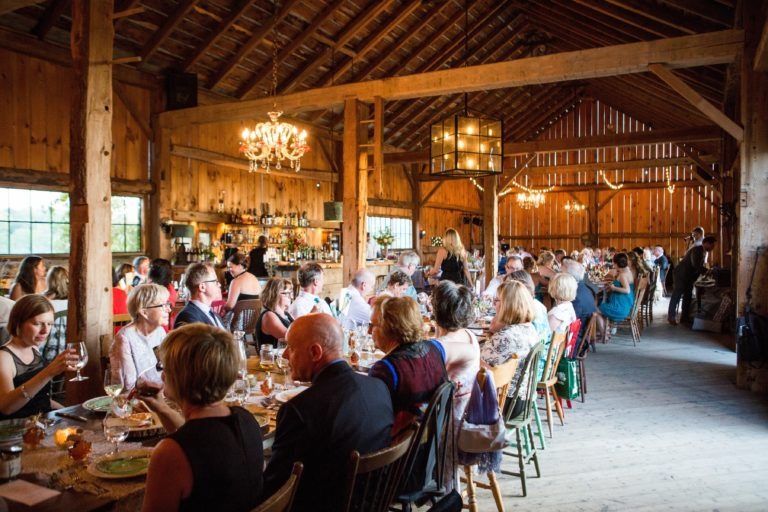 Indoor Barn Dining South Pond Farms Experiences