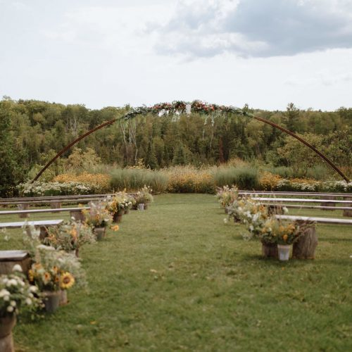 Ceremony Space Late Summer South Pond Farms