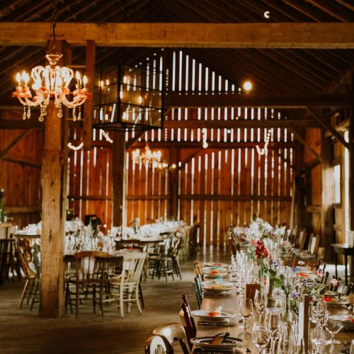 Barn Interior Wedding